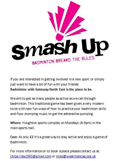 Smash up badminton